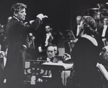 Leonard Bernstein and Eileen Farrell, ca. 1960, courtesy of the New York Philharmonic Archives