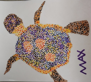 Pointillism 1 - Turtle by Max