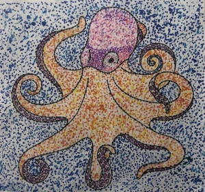 Pointillism 4 - Octopus